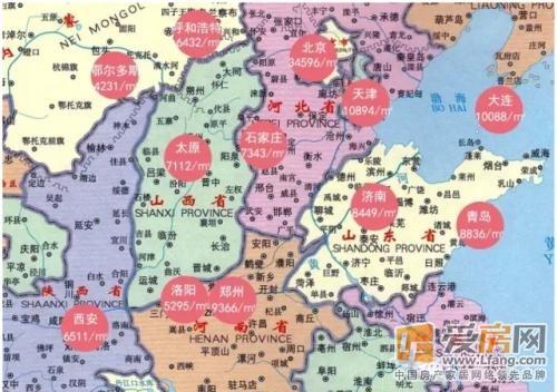 华北地区各大城市的房价跨度是相当巨大的.图片