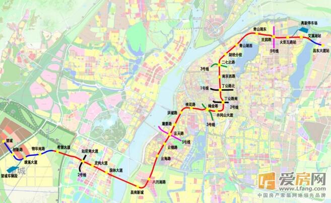 南昌地铁四号线最新线路图-南昌地铁4号线力争今年开建图片