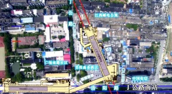 丁公路北站(地下三层岛式车站与一号线换乘)
