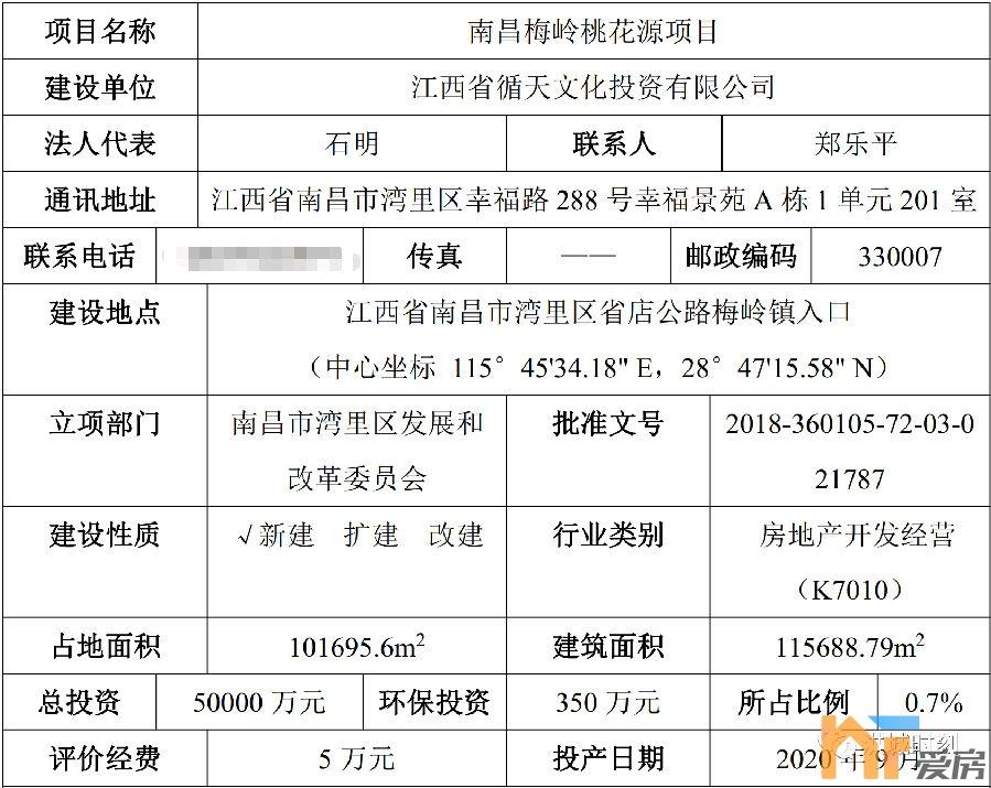 《【恒煊娱乐代理分红】南昌梅岭桃花源项目环评公示!预计2022年年底建成!》