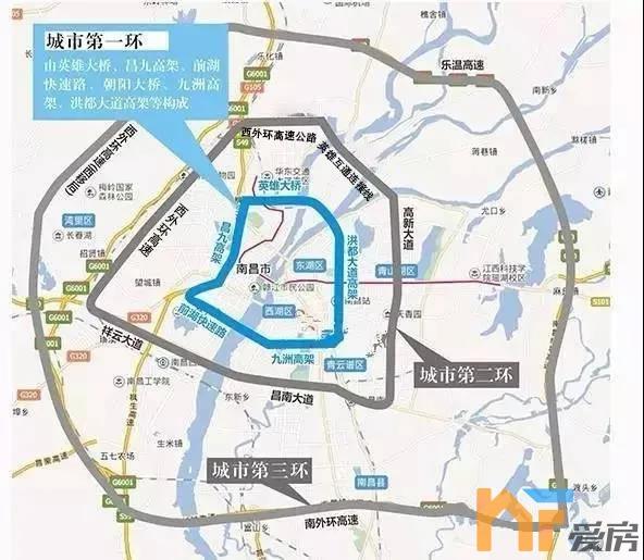 """南昌城市""""三环"""""""